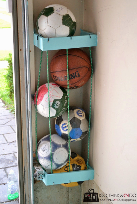 bungee-cord ball holder