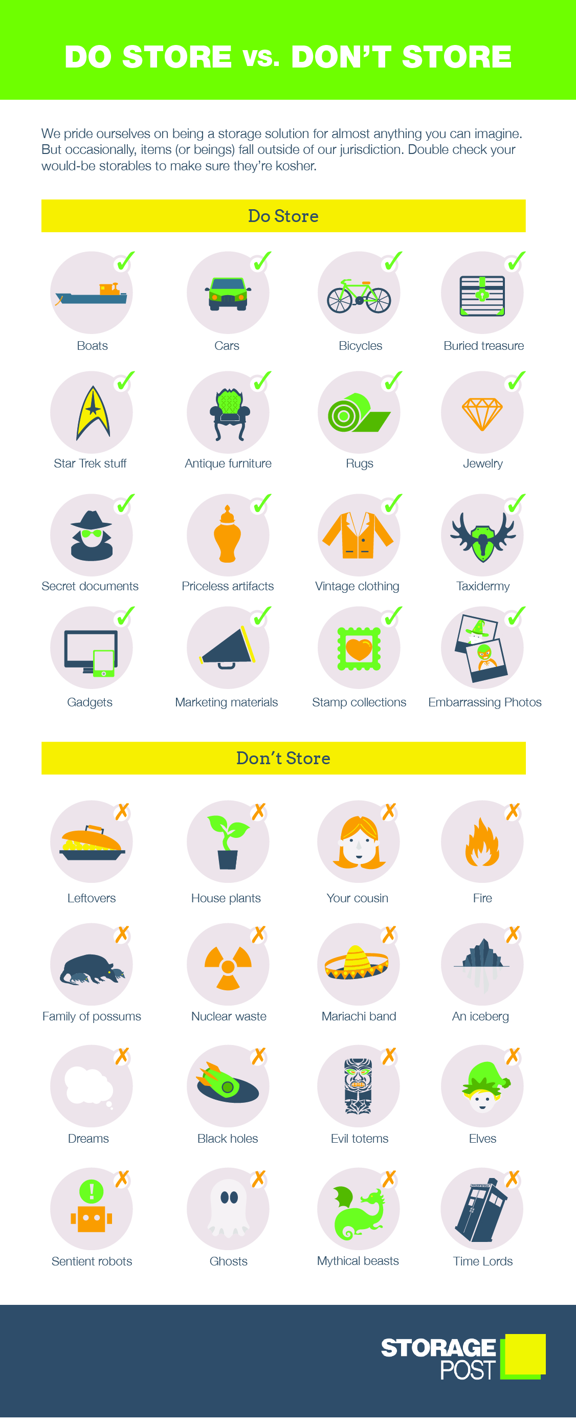 Do store, don't store infographic