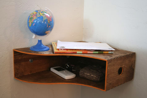 Night stand with items