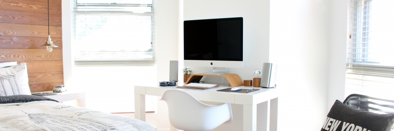 A clean looking office space