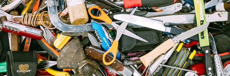 A bunch of cluttered tools