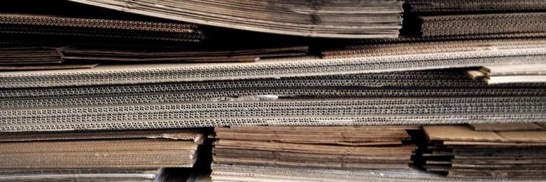 Stacks of cardboard