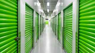Photo of lit Storage Post storage units