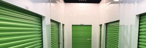 A few interior self-storage units at Storage Post Long Island City self-storage facility
