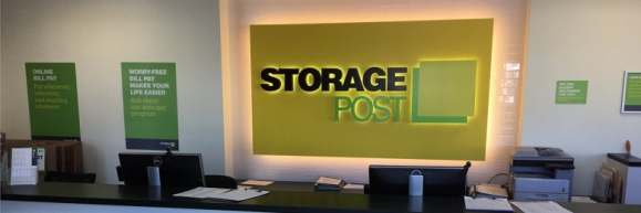 Storage Post sign at a self-storage facility