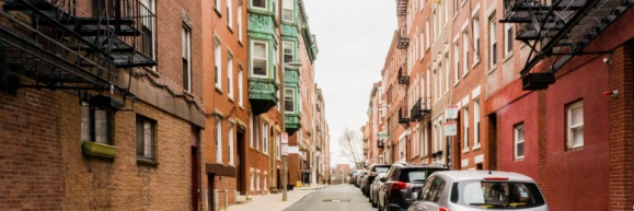 A street going through Brooklyn