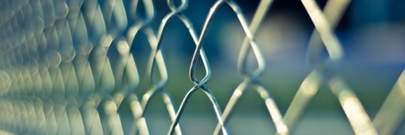 Chainlink fence on a sunny day