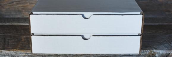 two white boxes