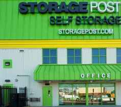 The exterior of the Storage Post Linden self-storage facility