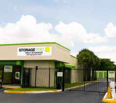 The exterior of the Storage Post Mills Pond Park self-storage facility