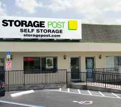 The store front at the Storage Post Oakland Park self-storage facility