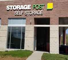 The entrance of the Storage Post Pelham self-storage facility